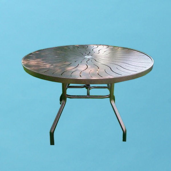 42 round r style punch top table