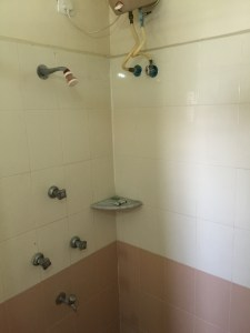 The Rubik's Shower: Figure out the combination knob turns to get running water! Fun for all the family!