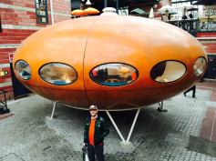 A futuristic pod-house