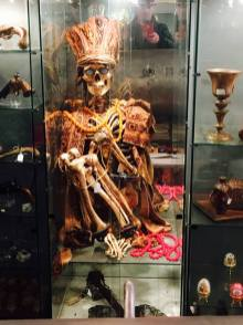 You can buy a real human skeleton in traditional tribal dress