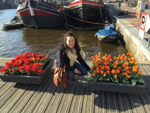 Anna and some tulips
