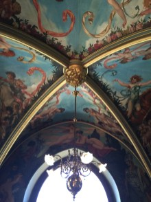 Part of the dining room ceiling