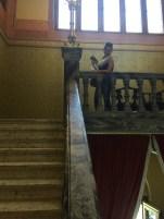 Over the balustrade
