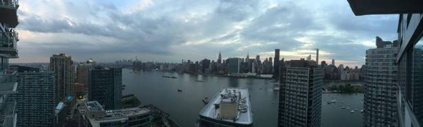 A panoramic shot from the balcony