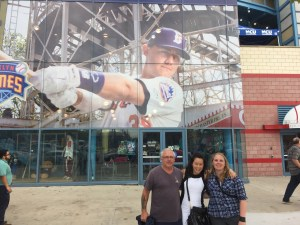 Greg, Anna and ursula outside MCA Park, the Brooklyn Cyclones home ground in Coney Island, NY.