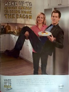 Yup, that's really Kevin Bacon selling eggs