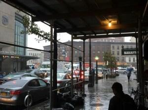 A little bleak outside the subway...