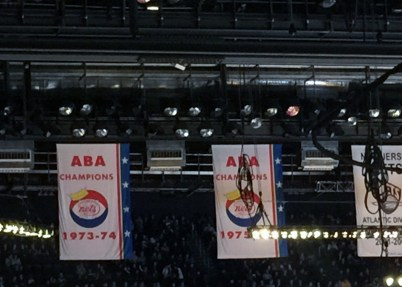New York Nets ABA championship banners