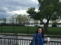 Anna posing out in front of the White House