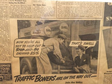 Our hotel had old newspaper clippings on the wall. This one was a bit odd...
