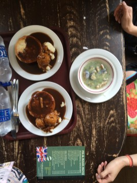 Pies, mash and eels