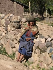 A traditional Peruvian tribal woman
