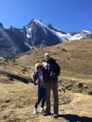 Anna, myself and a mountain