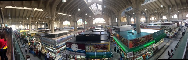 Panoramic view of the market