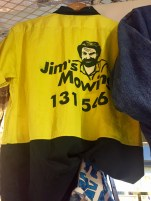 Found a Jim's Mowing shirt in a vintage store