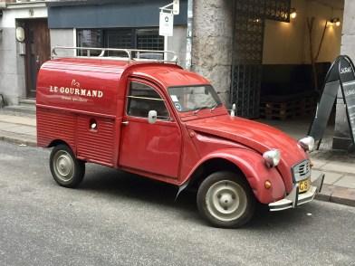 An old-school Citroen delivery van