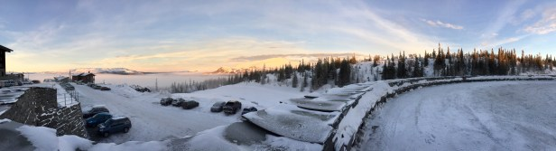 Panoramic shot from the front door of the hotel