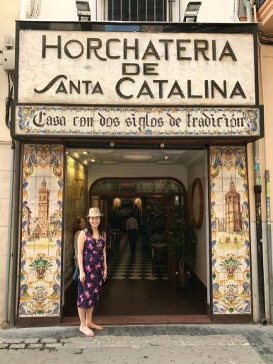 The entrance to Horchateria Santa Catalina