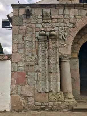 The left side of the church's entrance...