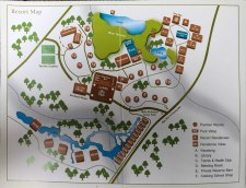A map of the Four Seasons' grounds. We were staying in PV9