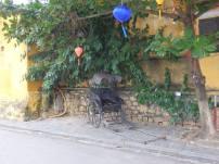 An old rickshaw