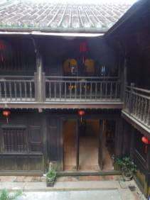 looking across the courtyard