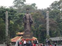 A statue of Lý Thái Tổ, who reigned from 1009 to 1028