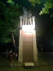 A better angle of one of the military statues