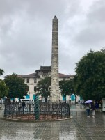 The Serpent Column and the Walled Obelisk in the daylight