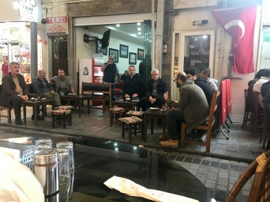 It doesn't get much more Turkish than a bunch of dudes sitting around and drinking coffee
