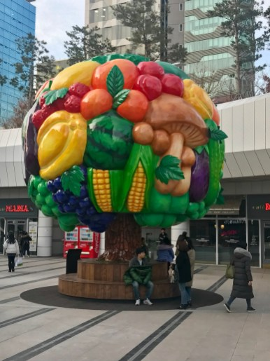 Another sculpture out the front of COEX Starfield