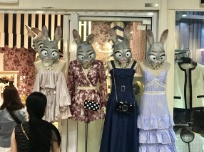 Some creepy mannequins in the mall