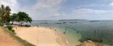 Token panoramic beach shot