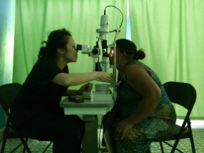 Anna conducting more vision tests