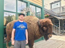 Hanging out with what was once a bison