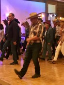 Some really got into the line-dancing
