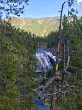 Gibbon Falls from the front