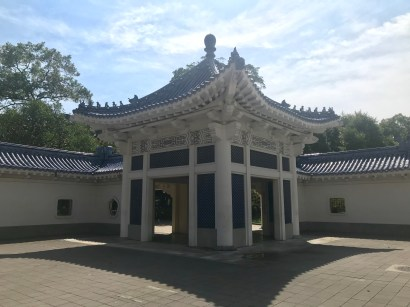 One of several smaller structures in the grounds