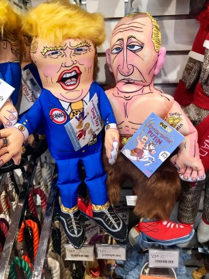 Trump and Putin dog toys