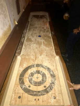 The shuffleboard table, the picture from the bar I was allowed to keep