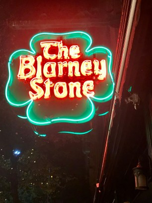 The sign out the front of The Blarney Stone