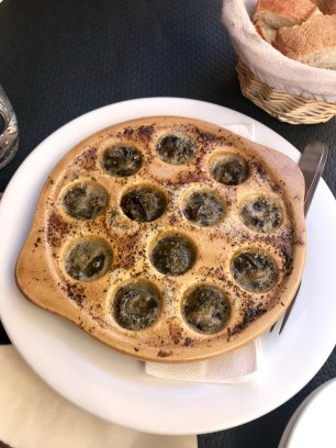 Escargot for lunch