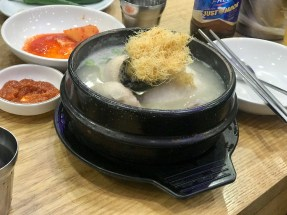 My dinner, abalone ginseng chicken soup