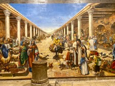 A painting of how the market once looked. Apparently a common tourist thing to do is stand on that pillar for a photo so it looks as if you are in the market