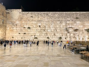 The men's prayer section of the Western Wall