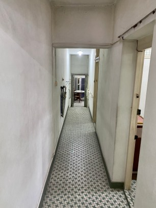 The view down the hallway