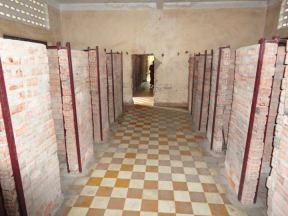 That classroom, as well as almost all of the others, was converted into cells