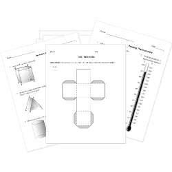Geometry and Measurement Questions for Tests and Worksheets