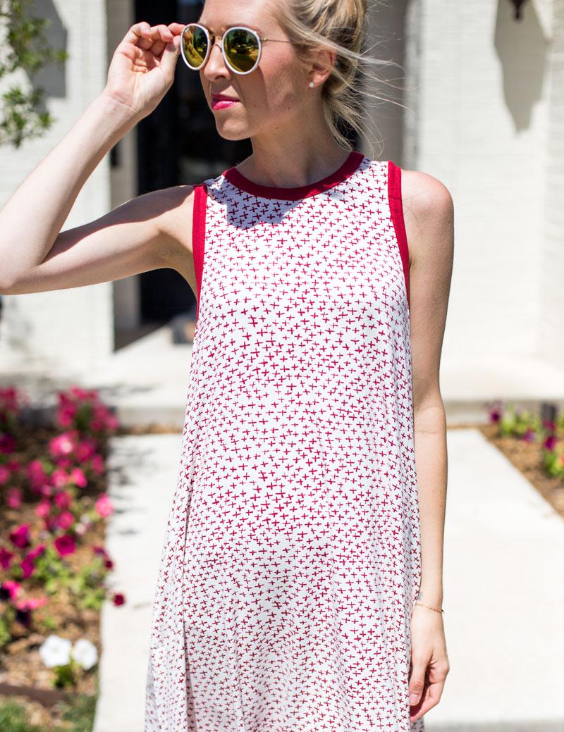 rayon sunglasses - red summer dress - amarillo type blogger