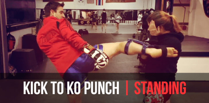 Muay Thai Kickboxing Classes West Chester Pa Kick to KO Punch Combo
